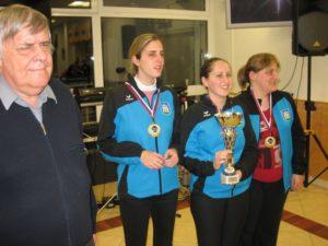 Podelitev nagrad v kategoriji ekipe - ženska ekipa