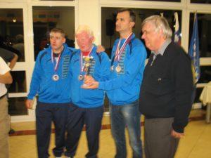 Podelitev nagrad v kategoriji ekipe - moška ekipa